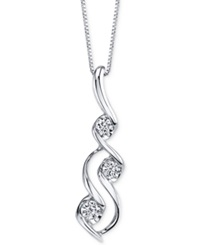 Sirena Diamond Swirl Pendant Necklace 1 3 Ct. T.W. In 14K White Gold No Color
