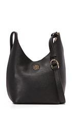 Tory Burch Perry Small Hobo Bag Black Beige
