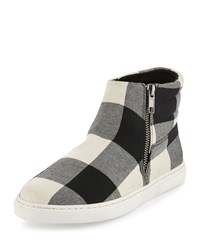 Splendid Sarasota Plaid Flannel Sneaker Black