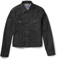 Ralph Lauren Purple Label Slim Fit Denim Jacket Black
