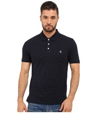 Original Penguin Short Sleeve Neon Nep Polo Dark Sapphire Men's Short Sleeve Pullover Blue