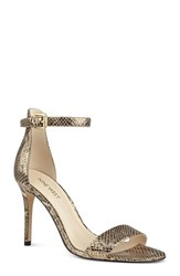 Nine West Women's 'Mana' Ankle Strap Sandal Antik Gold Metallic Leather