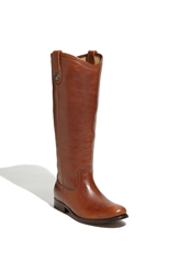 Frye 'Melissa Button' Leather Riding Boot Cognac Leather