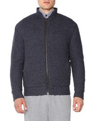 Tomas Maier Textured Cashmere Bomber Jacket Charcoal Grey Women's