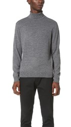 Club Monaco Merino Turtleneck Sweater Grey Marled