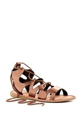 Elegant Footwear Lupitaa Lace Up Sandal Metallic