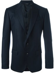 Dolce And Gabbana Fitted Blazer Blue