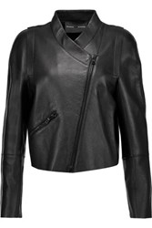 Proenza Schouler Cropped Leather Jacket Black