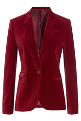The Kooples Velvet Blazer Red