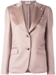 Lardini Two Button Blazer Pink Purple