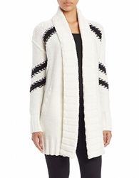 Guess Open Front Cardigan White