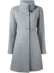 Fay Single Breasted Coat Grey
