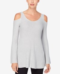 Catherine Malandrino Cold Shoulder Sweater Winter Heather