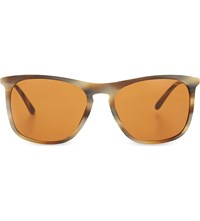 Giorgio Armani Ar8076 Tortoiseshell Square Frame Sunglasses Light Brown