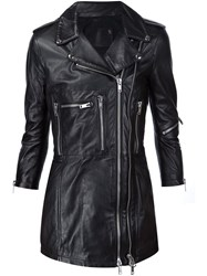 R 13 R13 Long Biker Jacket Black