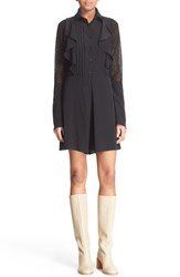 Women's See By Chloe Lace And Crepe De Chine Romper