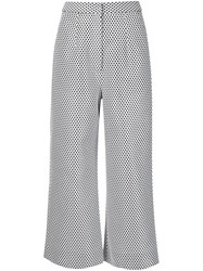 Monique Lhuillier Cropped Trousers White