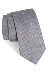 Nordstrom Men's Men's Shop Dazzle Neat Silk Tie Charcoal