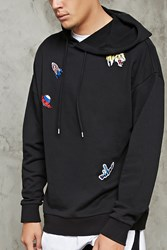 Forever 21 Tiger Patch Front Hoodie Black Multi