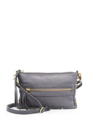 Linea Pelle Walker Leather Crossbody Slate