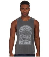 Obey Peace Horse Moto Tank Top Pewter Men's Sleeveless