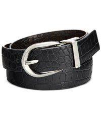Styleandco. Style Co. Reversible Croco Embossed Skinny Belt Only At Macy's Black Brown