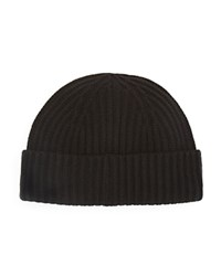 The Men's Store At Bloomingdale's Ribbed Wool Cashmere Beanie Black