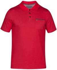 Hurley Men's Lagos 2.0 Knit Pocket Polo Gym Red