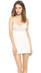 Only Hearts Club So Fine Baby Doll Chemise Creme