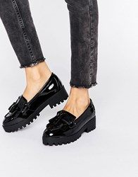 New Look Chunky Patent Tassel Loafer Black