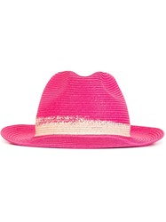 Etro Colour Block Hat Pink And Purple