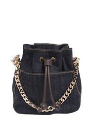 Dsquared2 Cotton Denim Mini Backpack