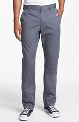 Rvca 'The Weekend' Slim Straight Leg Chinos Pavement