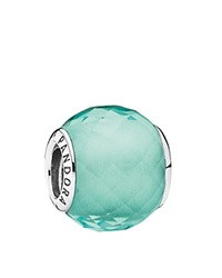 Pandora Design Pandora Charm Sterling Silver And Cubic Zirconia Green Petite Facets Moments Collection