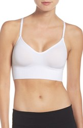 Under Armour Women's Seamless Heatgear Sports Bra White White Metallic Silver