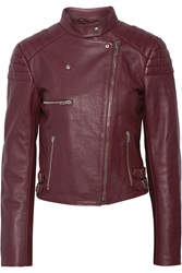 Mcq By Alexander Mcqueen Leather Biker Jacket Red