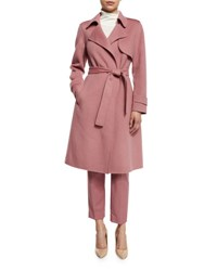 Theory Oaklane New Divided Open Front Trench Coat Pink Willow