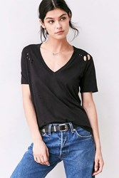 Truly Madly Deeply Suki Destructed Tee Black