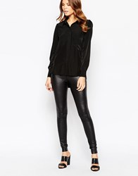 Y.A.S Rare Leather Look Leggings Black