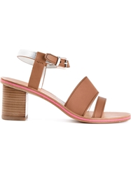 Paul Smith Double Strap Sandals Brown