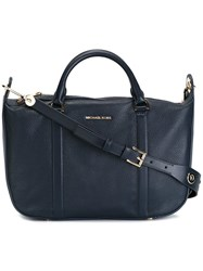 Michael Michael Kors Large 'Raven' Crossbody Bag Blue