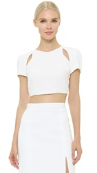 J. Mendel Cutout Crop Top Ivoire
