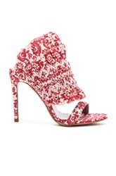 Tabitha Simmons Flouncy Linen Heels In Red Floral