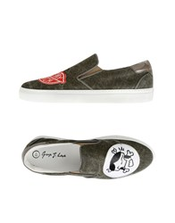 George J. Love Footwear Low Tops And Trainers Women Military Green