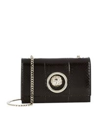 Versus By Versace Mini Flap Chain Shoulder Bag Black