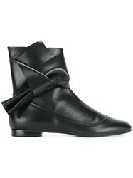 N 21 No21 Knot Detail Ankle Boots Black