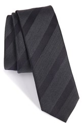 Boss Men's Stripe Silk And Wool Skinny Tie