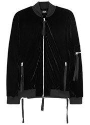 Blood Brother Zapp Black Velour Bomber Jacket