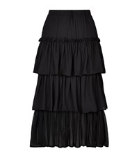 Pinko Nasello Tiered Ruffle Skirt Female Black