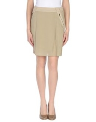 Siviglia Knee Length Skirts Beige